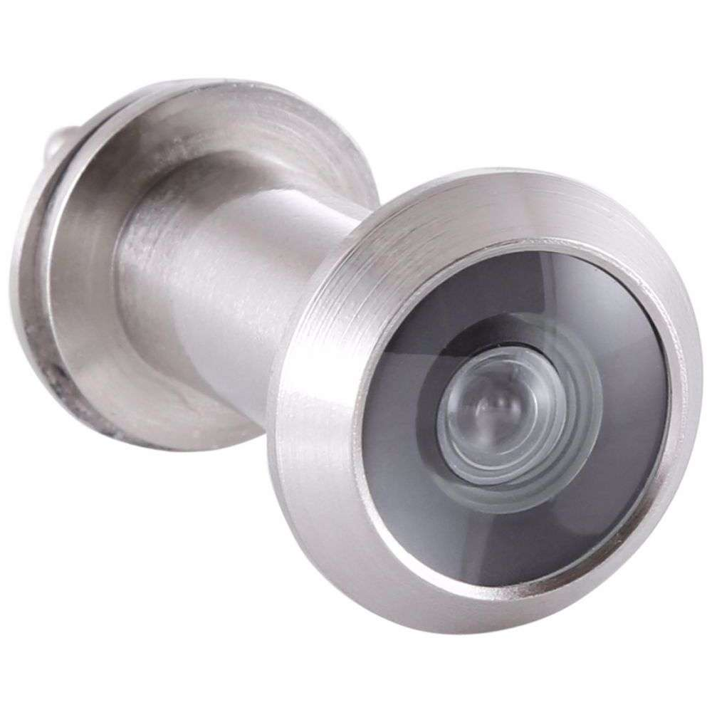 Door Viewer Peep Hole with Cover - Silver