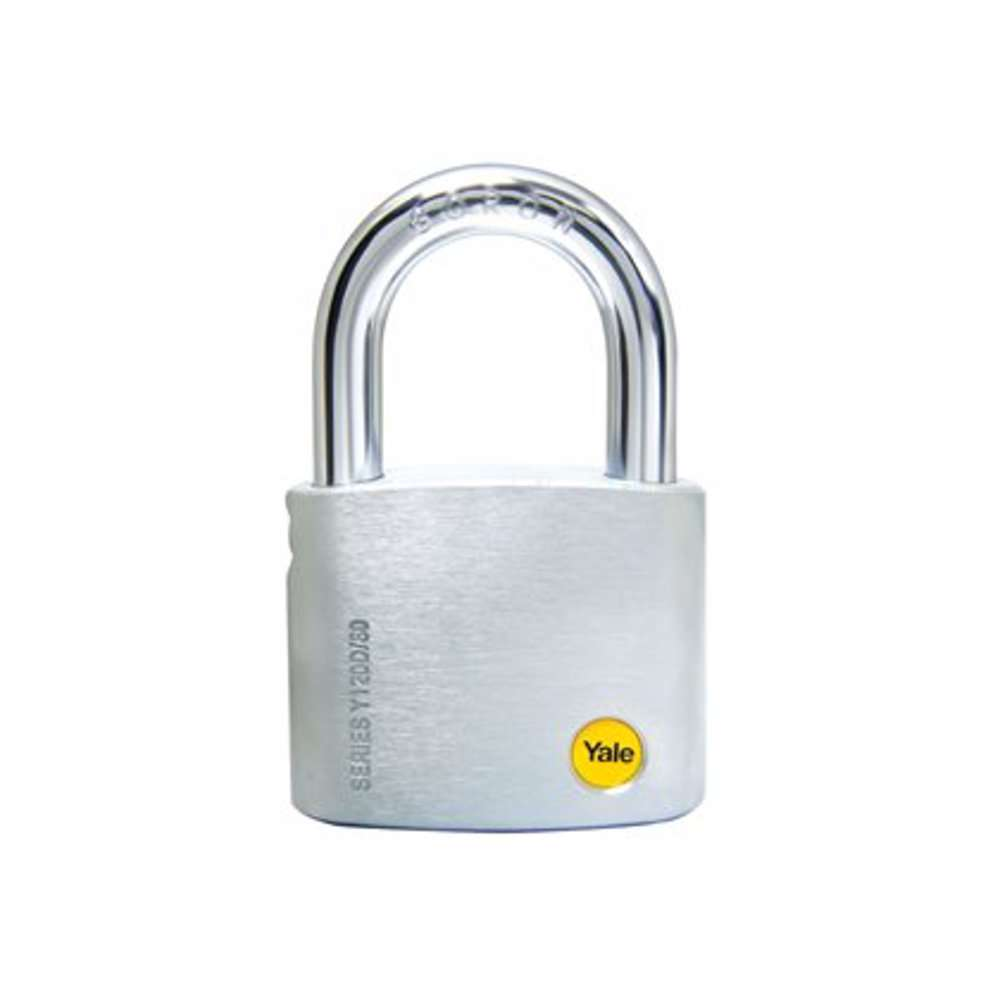 Yale Y120D Brass Padlock with Dimple Key 60 mm