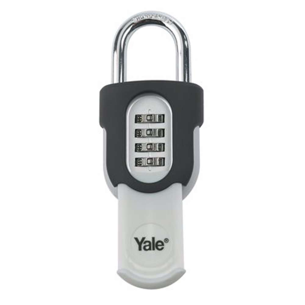 Yale Y879 4-Digit Combination Padlock With Protective Slide Cover