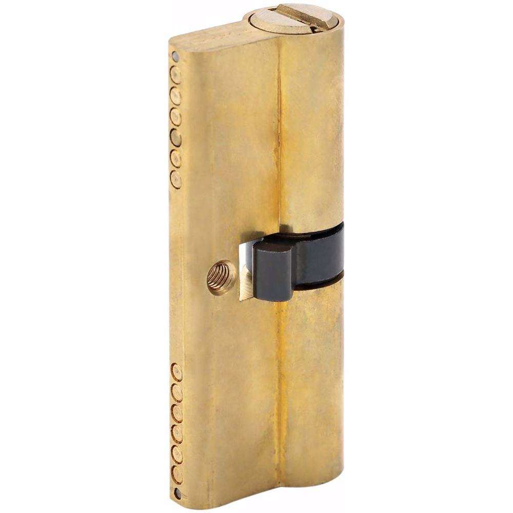 Double Cylinder Door Lock With Dimple/Computerized Key 6 Pin Gold 80 mm