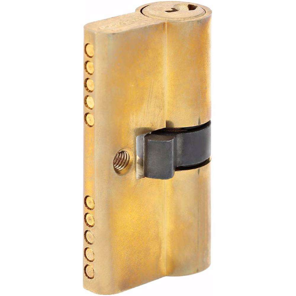 Double Cylinder Lock with Key for Doors 5 Pin Gold 54 mm