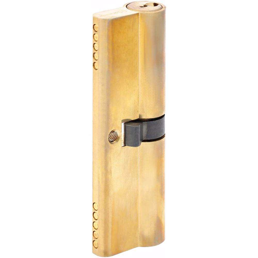 Double Cylinder Lock with Key for Doors 5 Pin Gold 100 mm