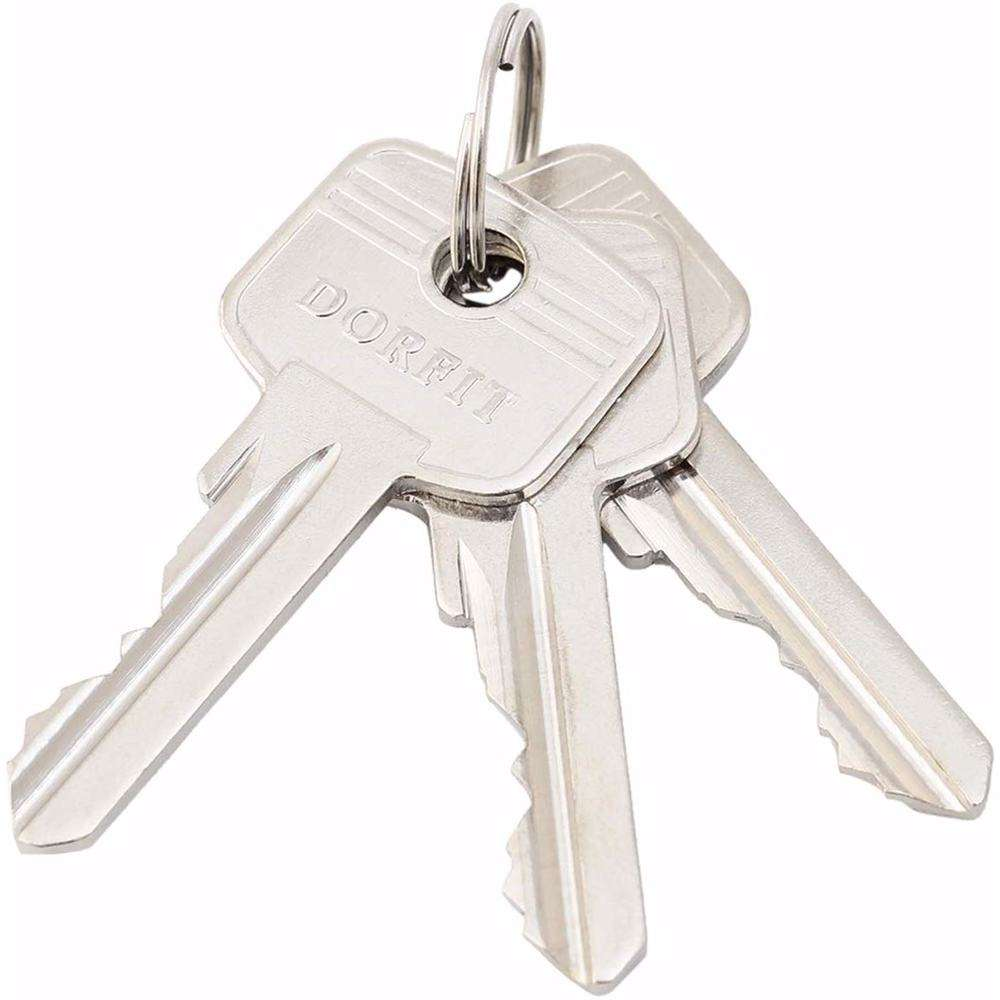 Unequal Double Cylinder Door Lock with Key 5 Pin Gold 30/50 mm