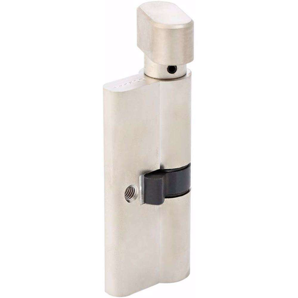 Bathroom Knob Turn Door Cylinder Silver 70 mm