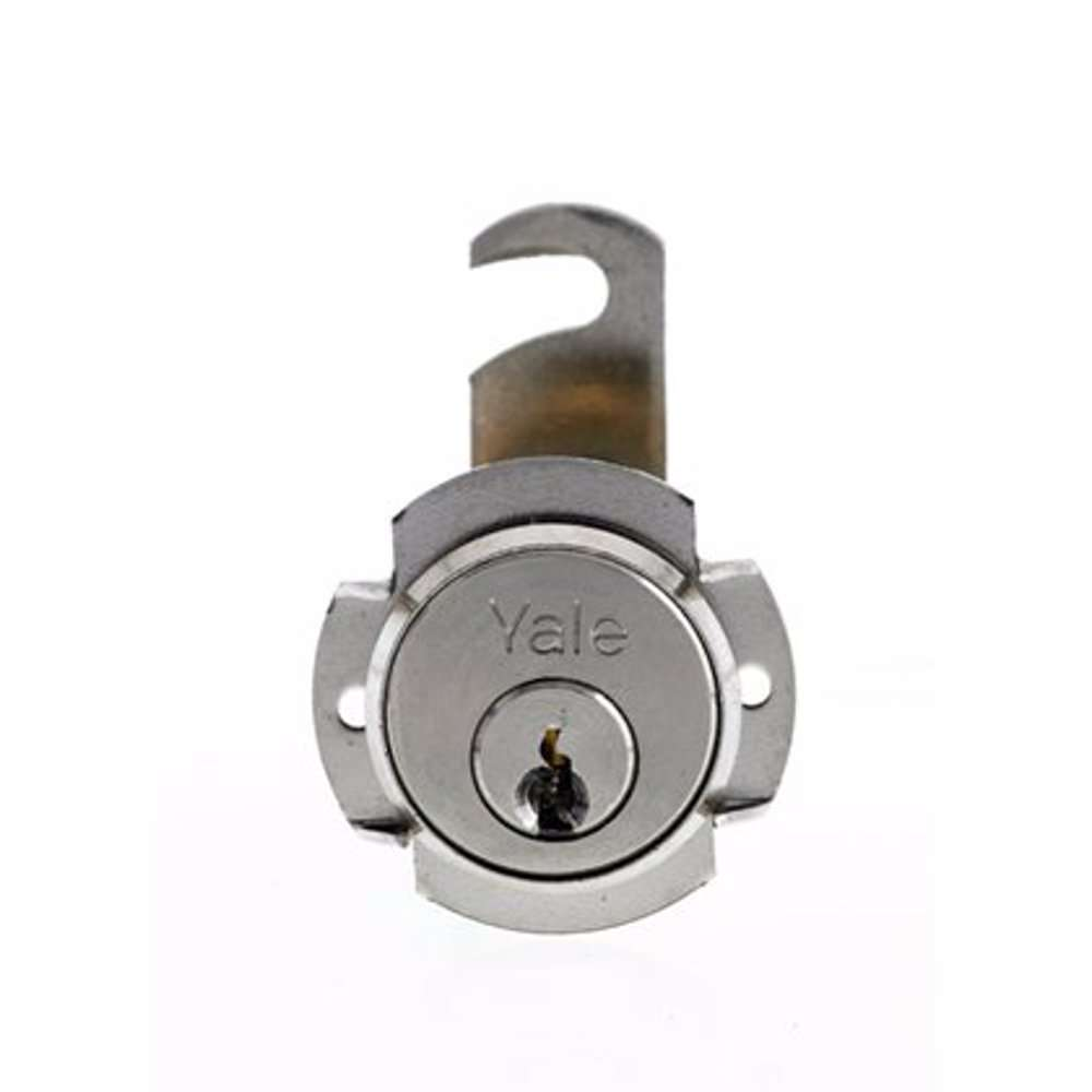 Yale 891 Universal Cylinder for metal cabinets 20mm Nickle Plated Brass 90° rotation