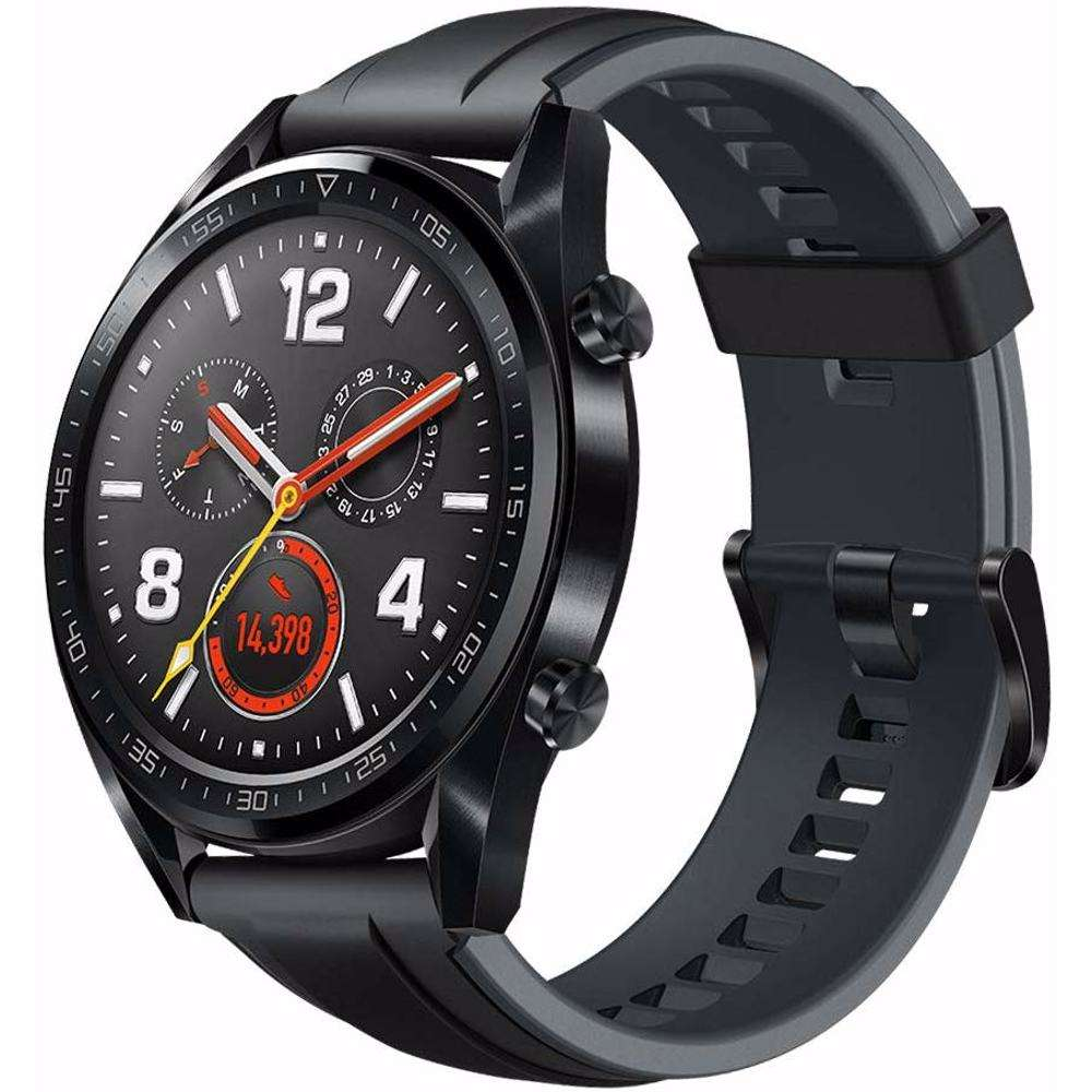 Huawei Watch GT- Black Stainless Steel Silicon Strap