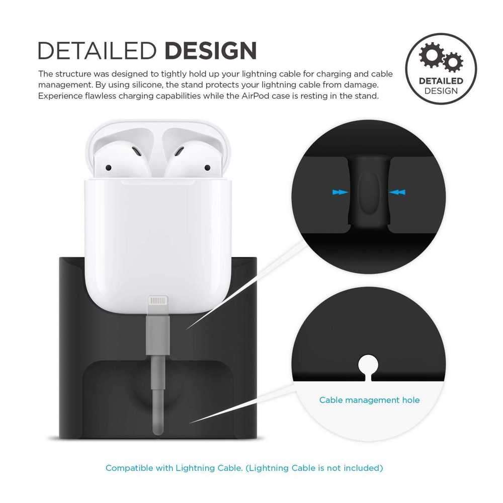 Elago Charging Station for Airpods Case - Black