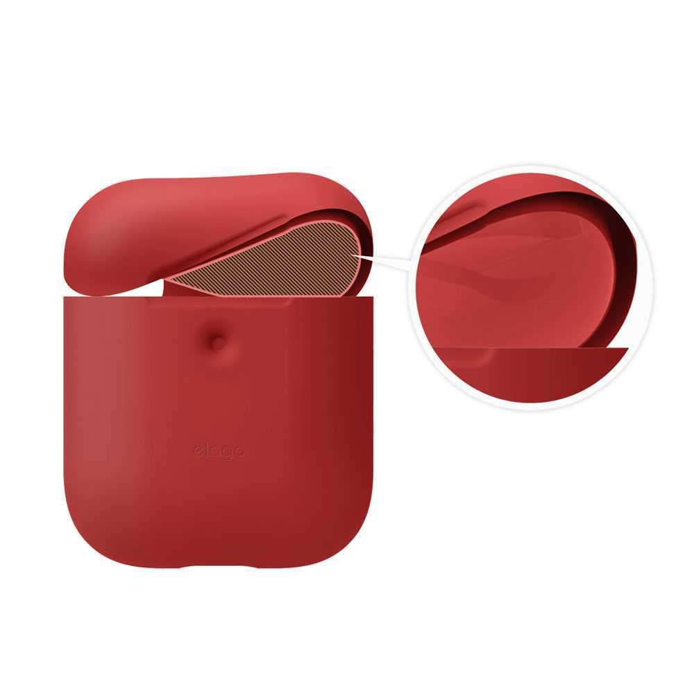 Elago 2nd Generation Airpods Silicone Case - Red