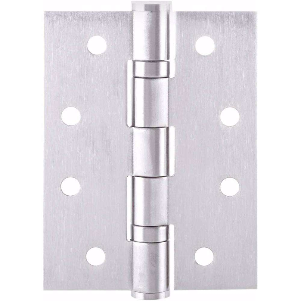 "Dorfit Two Ball Bearing Door Hinges 4.5""x4""x3 mm SUS304 Silver"