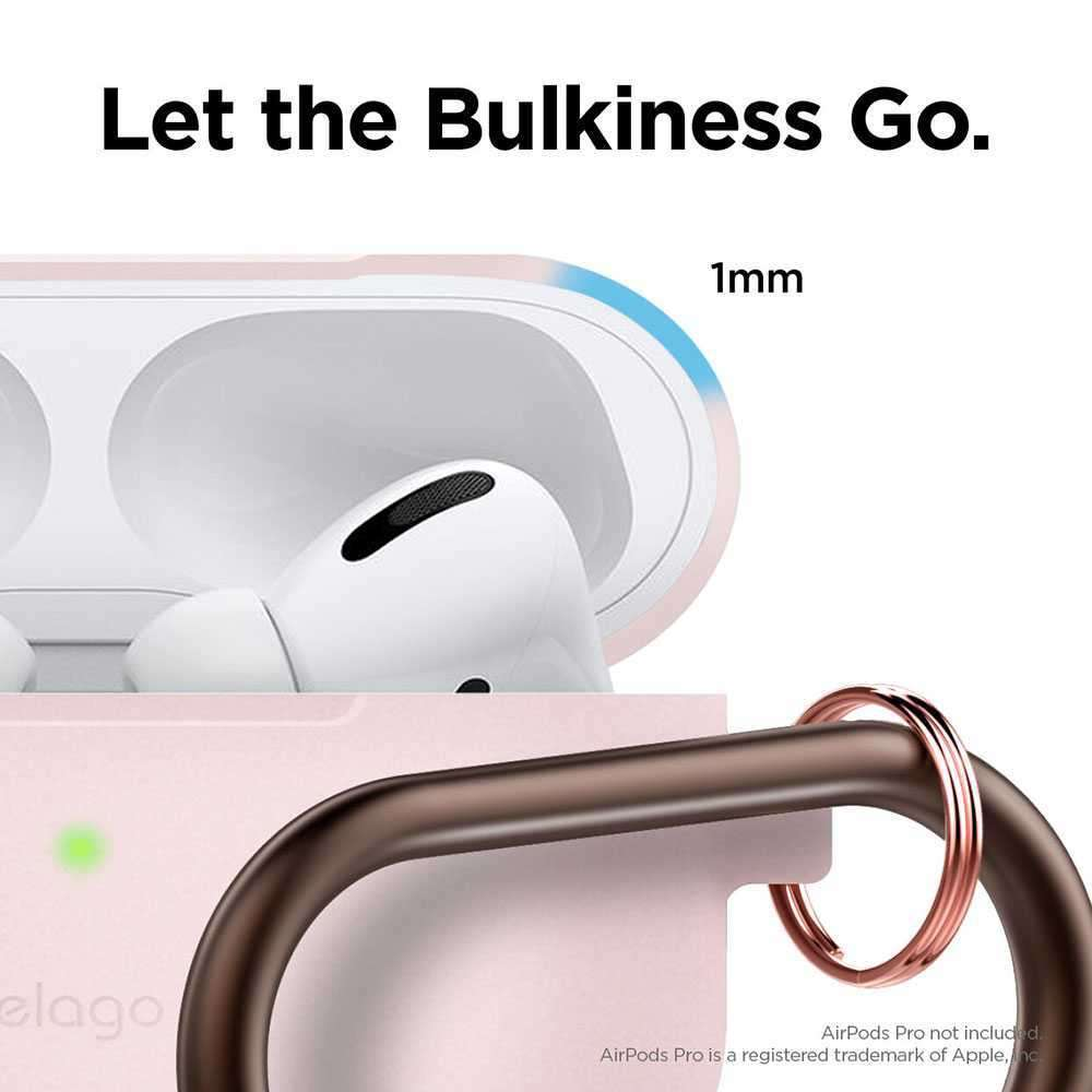 Elago Slim Hang Case for Apple Airpods Pro - Lovely Pink
