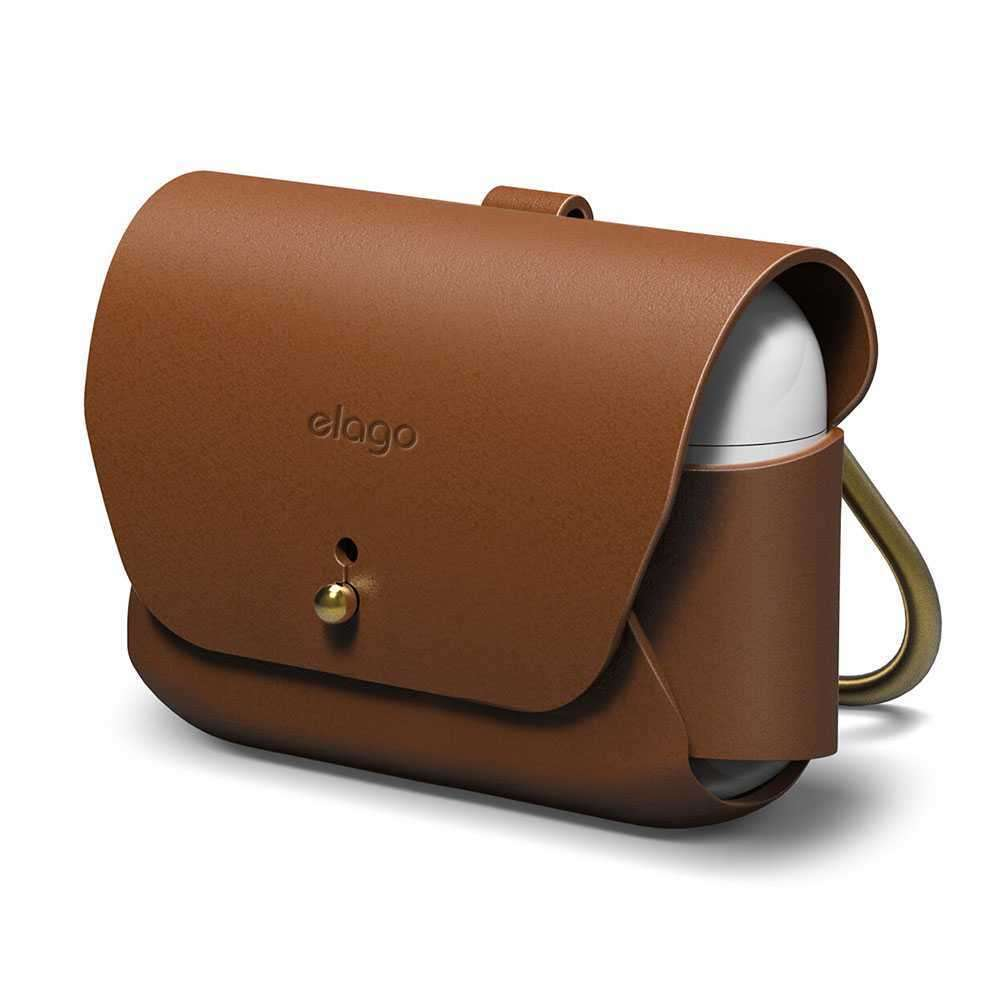 Elago Genuine Leather Case for Apple Airpods Pro - Brown