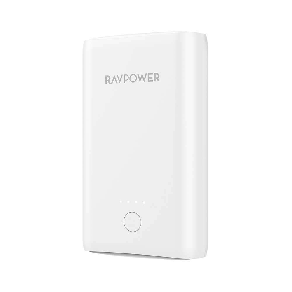 RAVPower Portable Charger 10050mAh with iSmart - White