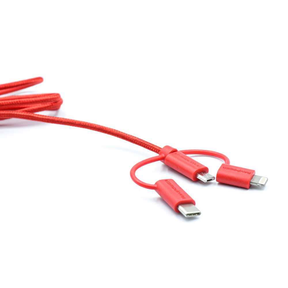 Ravpower 3 in 1 Data Cable 3ft/0.9m - Red