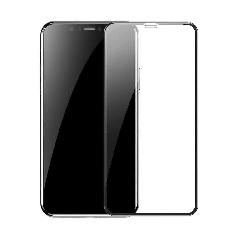 Porodo 3D Curved Edge Glass for iPhone 11 Pro Max - Black