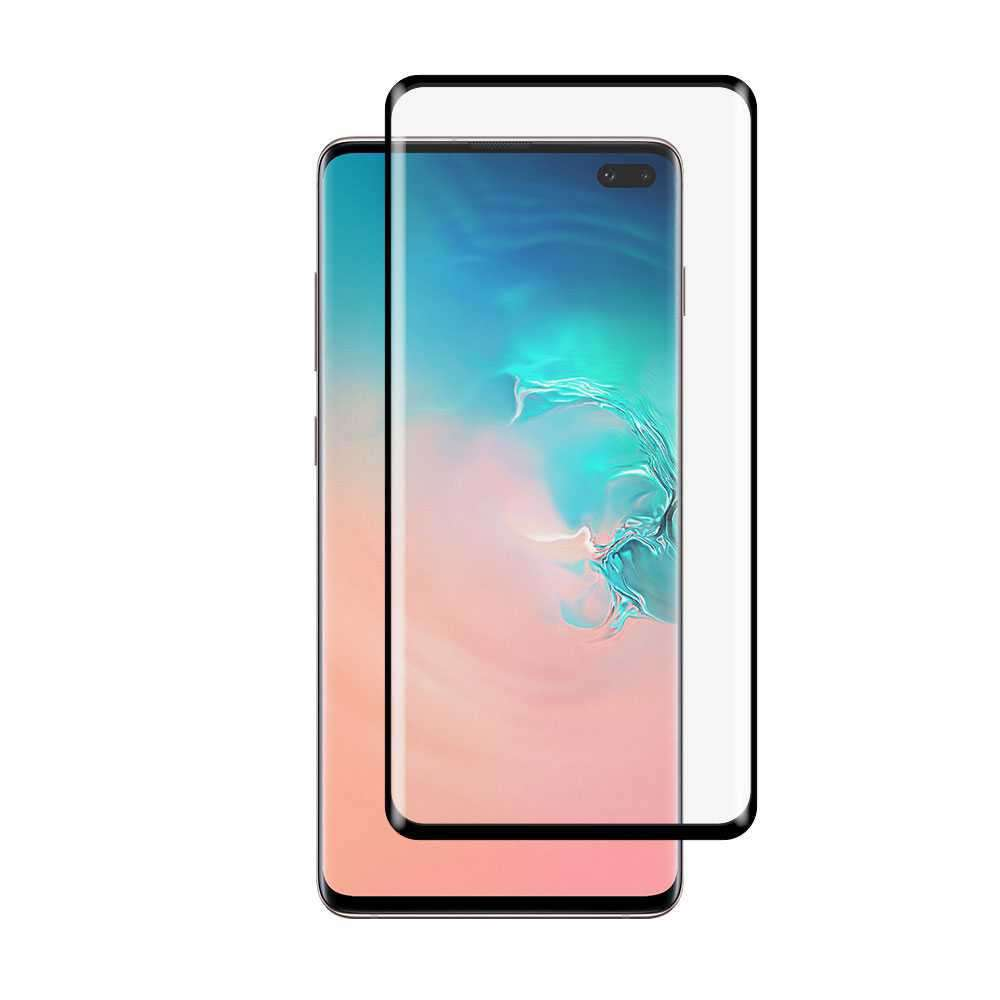 Porodo 3D Full Covered Tempered Glass Screen Protector 0.25mm for Samsung Galaxy S10 Plus - Black
