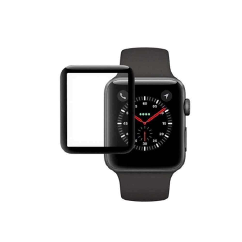 Porodo 3D Curved Tempered Glass Screen Protector 40mm for iWatch - Black