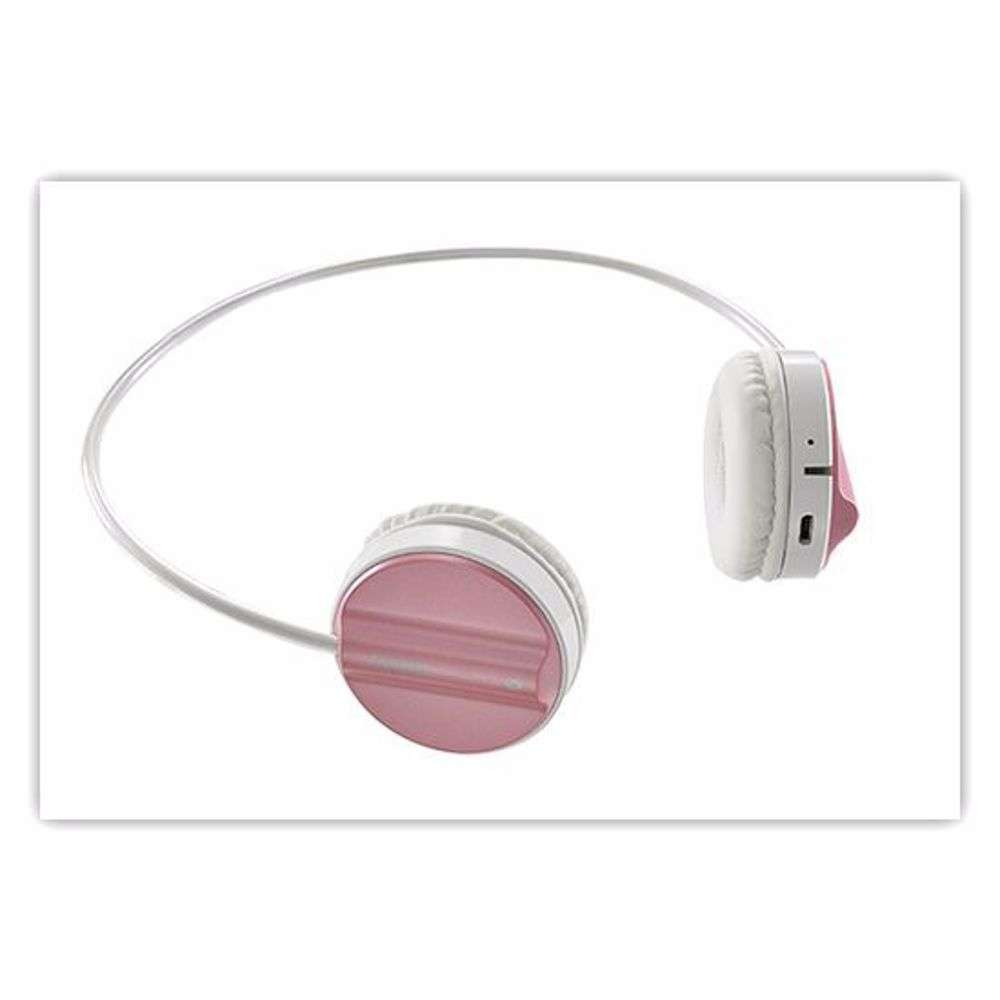 H6020 PRO PK Rapoo H6020 Bluetooth 4.1 Stereo Headset Wireless Headphone with hidden Microphone - 16 Hours Play Time - Pink