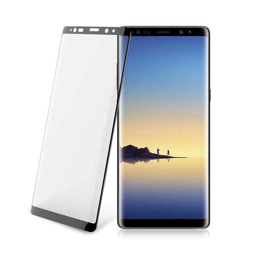 Porodo 3D Full Covered Glass Screen Protector 0.33mm for Samsung Galaxy Note 8 - Black