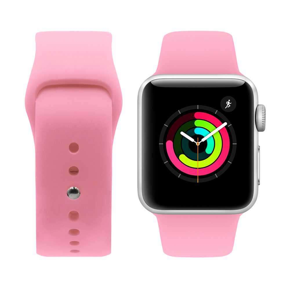 iGuard by Porodo Silicone Watch Band for Apple Watch 44mm / 42mm - Pink Orange