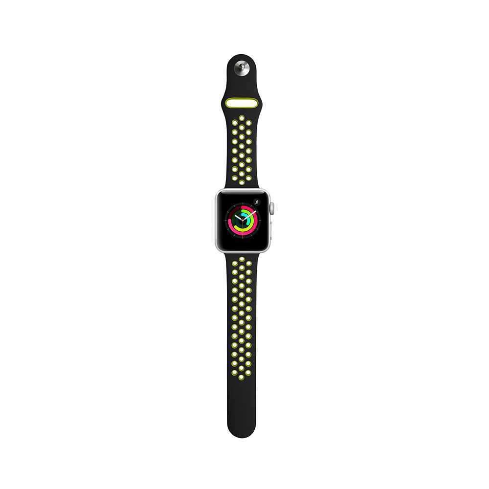 iGuard byPorodo Nike Watch Band for Apple Watch 44mm / 42mm - Black/Yellow Green