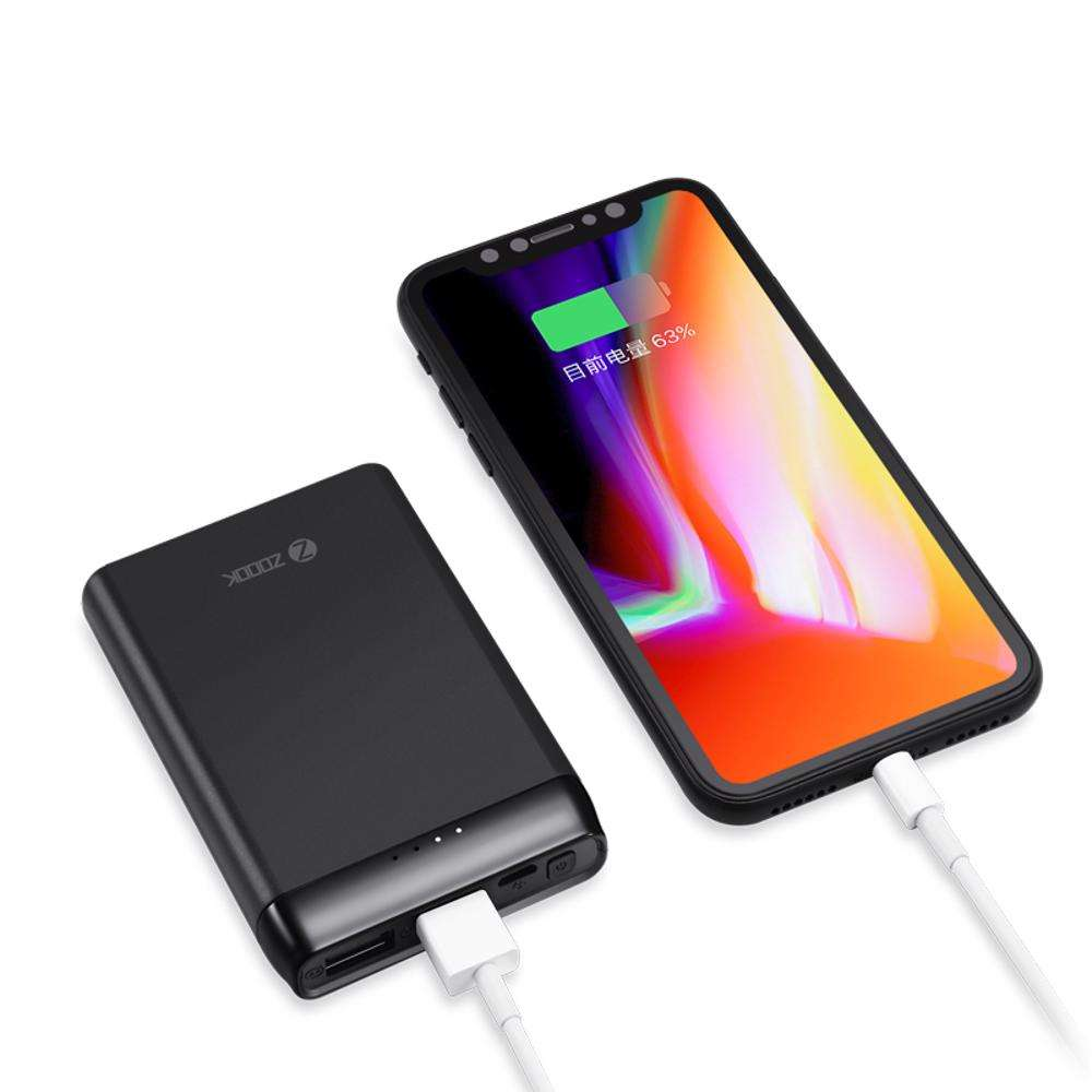 ZP-Powermate5 Zoook Mobile Portable Charger 5000mAh Polymer Ultra Thin Fast Charging 2.1A - Black