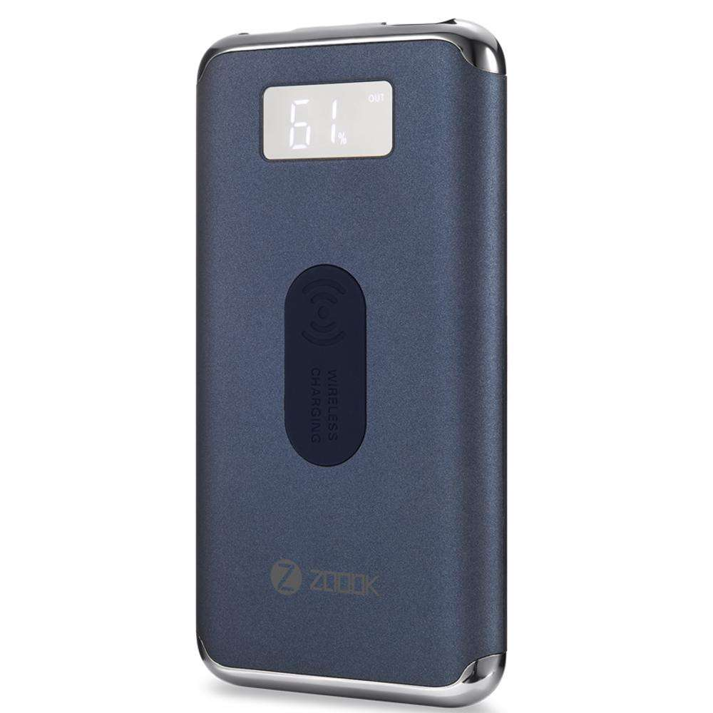 ZP-Freemate Plus Zoook ZP-Freemate Plus Ultra Slim Fast Charging QI Supported Wireless Power Bank- Navy Blue