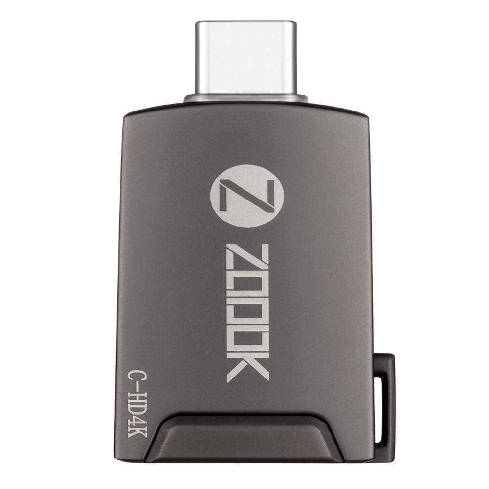 C-HD4K Zoook Type C to 4K HDMI Female adapter metal body dongle- Space Grey