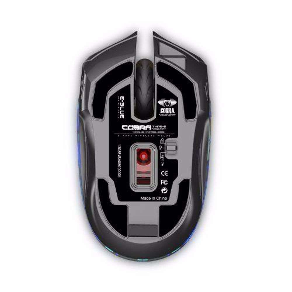 E Blue EMS608GOAA IF Cobra Type S Rechargeable 2.4GHz Wireless LED Compact Gaming Mouse - Gold
