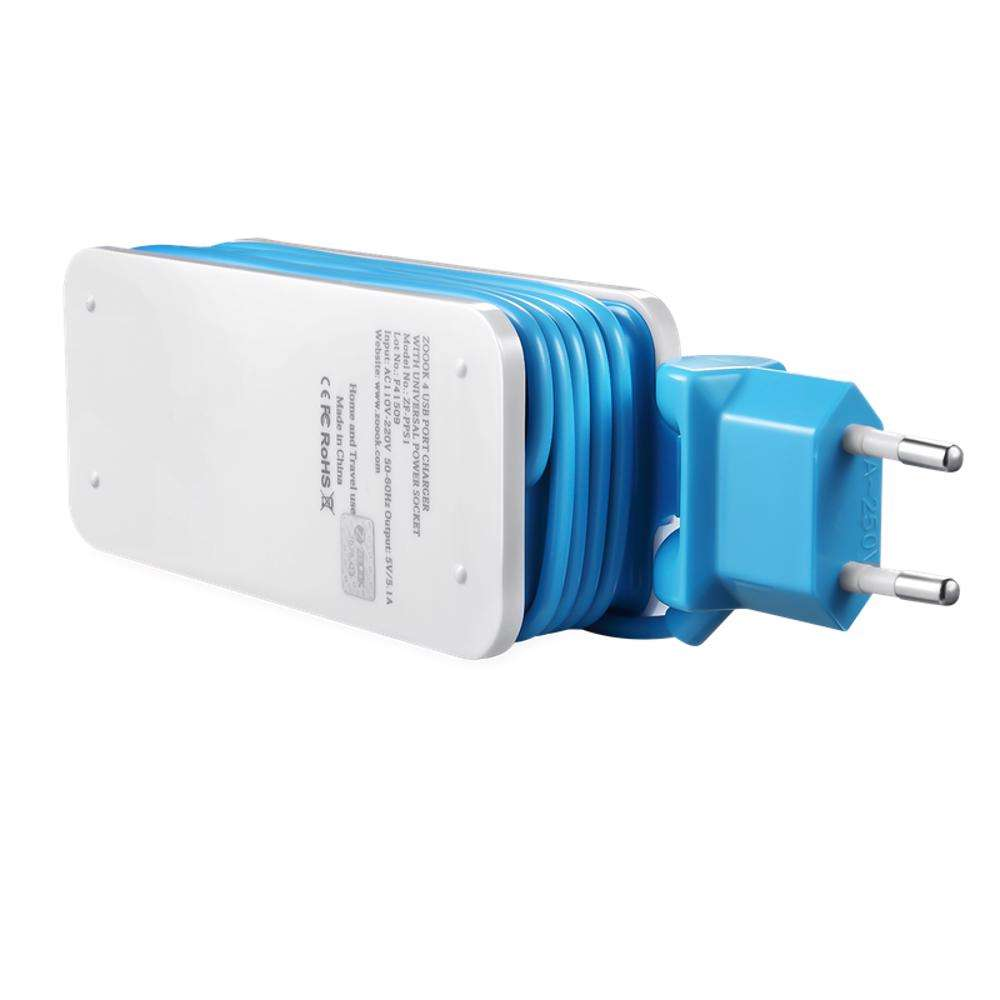 ZF-PPS1 Zoook Portable Charging Station- White with Blue