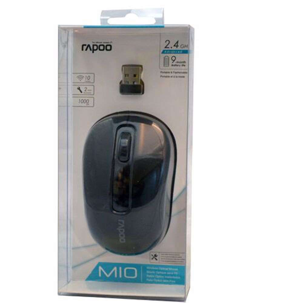 Rapoo M10 Wireless Optical Mouse - Black