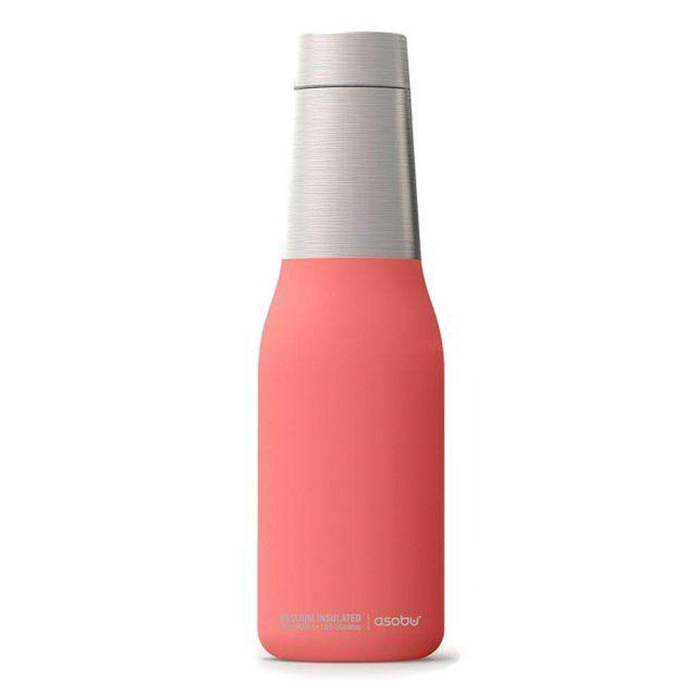 ASOBU Oasis Vacuum Insulated Double Walled Water Bottle Peach 600 ml