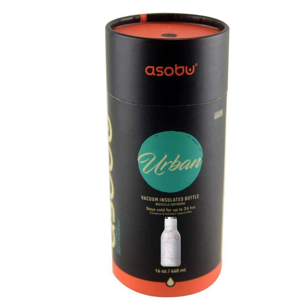 ASOBU Urban Insulated and Double Walled 16 Ounce 24hrs Cool Stainless Steel Bottle - Marble