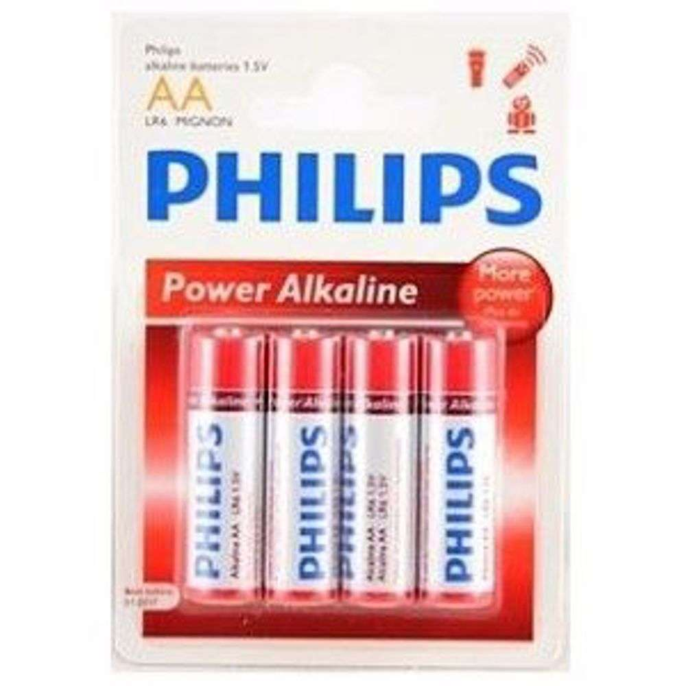 Philips PowerLife LR6P4B/97 - AAA Size Pack of 4