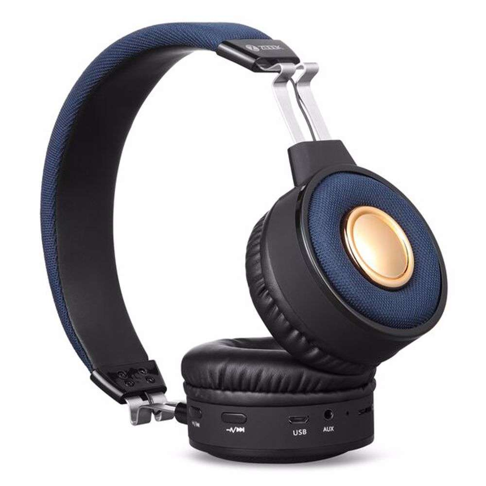 Zoook Soul Premium Bluetooth Headphone with TF/FM Radio/ Aux in and Microphone - Black