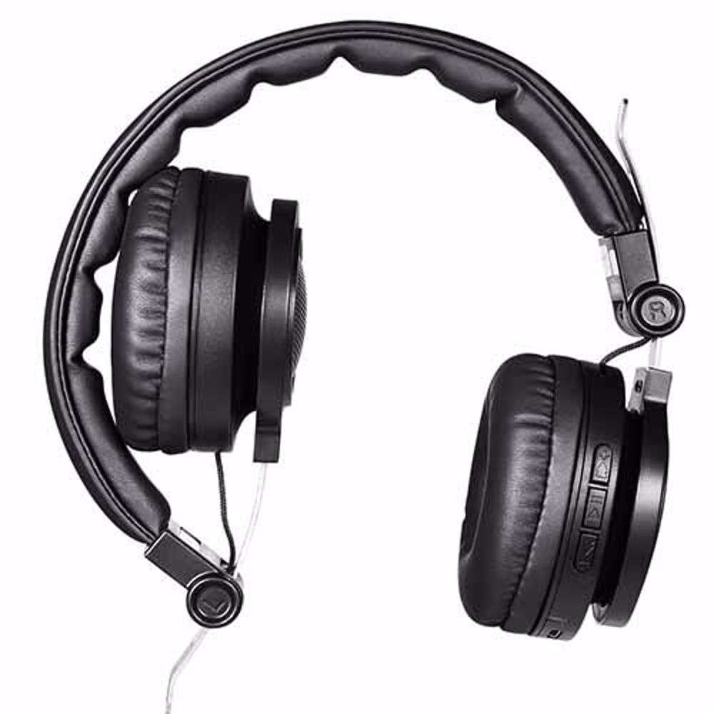 Zoook X1000 Wired/Wireless Headphones Supporting Bluetooth Play / FM Radio / Aux Input / Micro SD Card / Handsfree Calls - Black