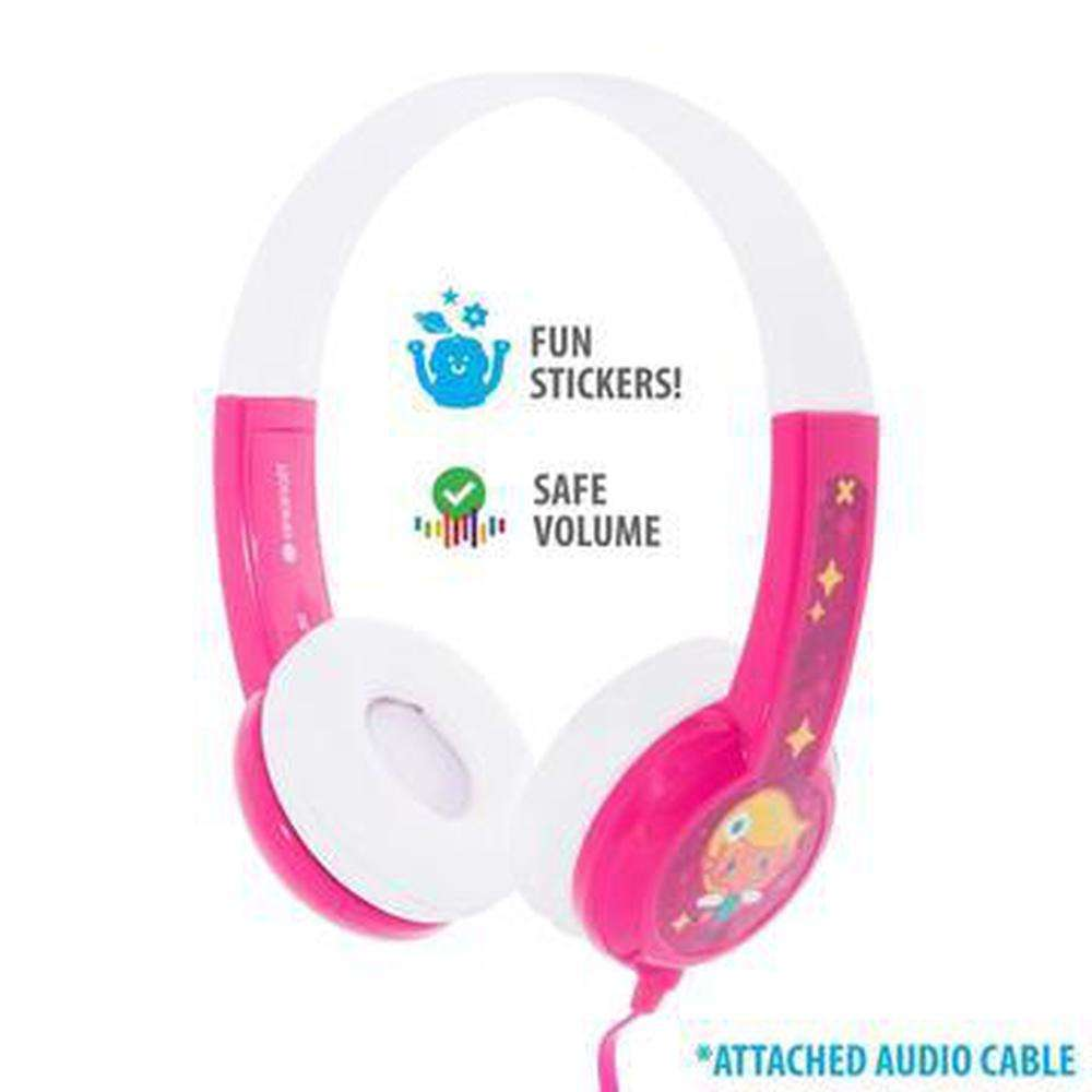 BUDDYPHONES Connect On-Ear Wired Headphones Pink