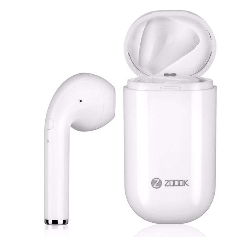 Zoook SoundPod Ultra portable Bluetooth headset with dock White