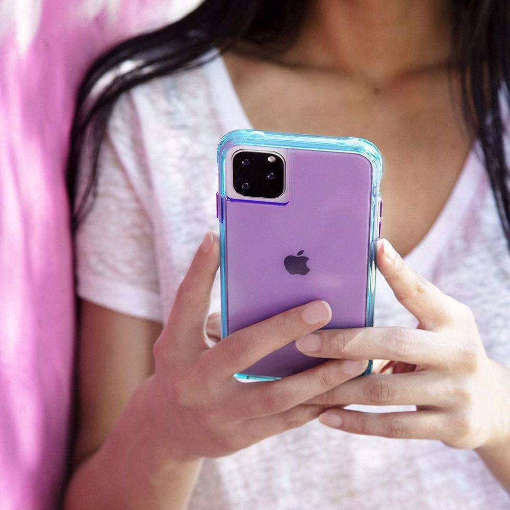 CASE-MATE Tough Neon Purple/Turquoise Case for iPhone 11 Pro Max