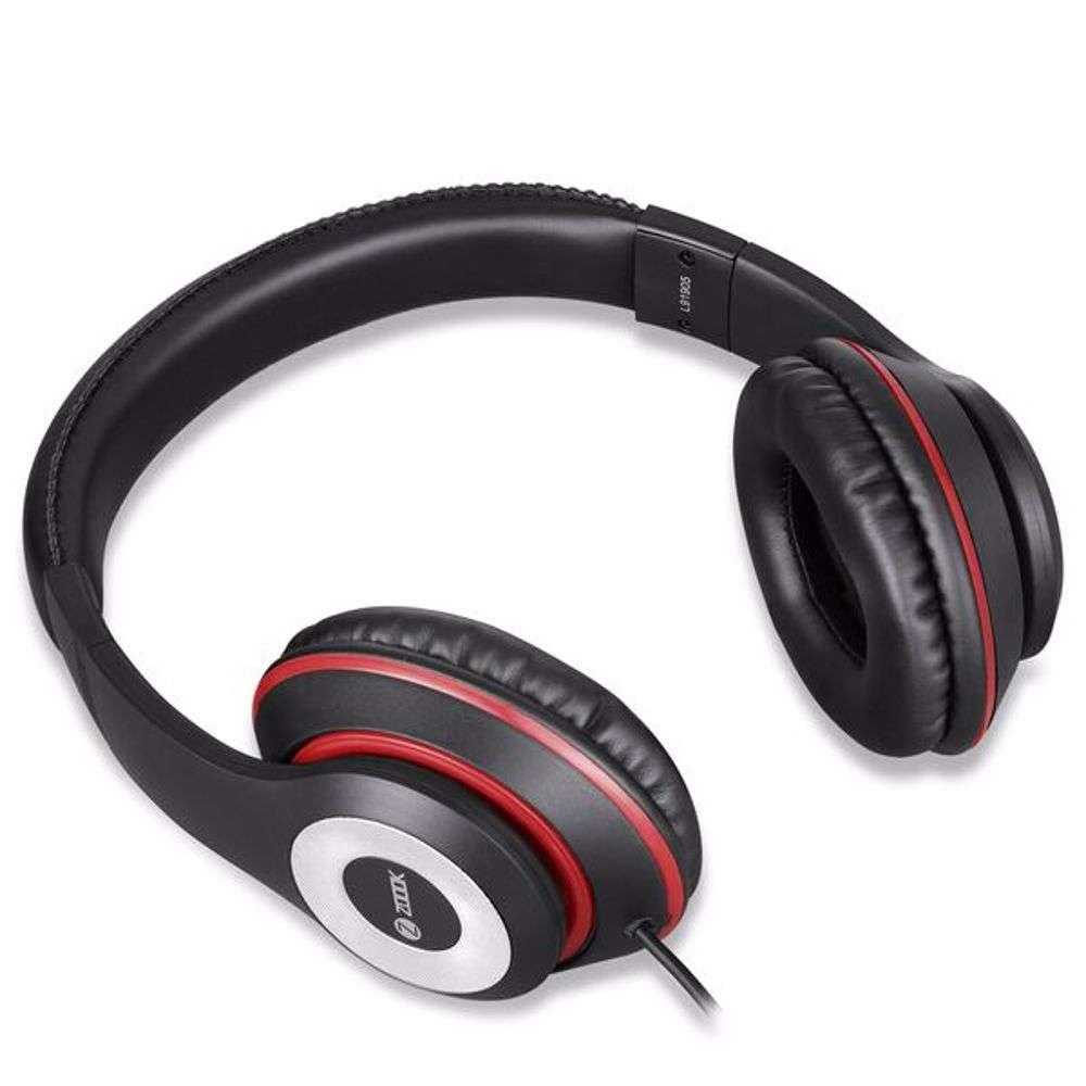 Zoook Thump Wired Headphone with Mic & extra BASS - Black+Red