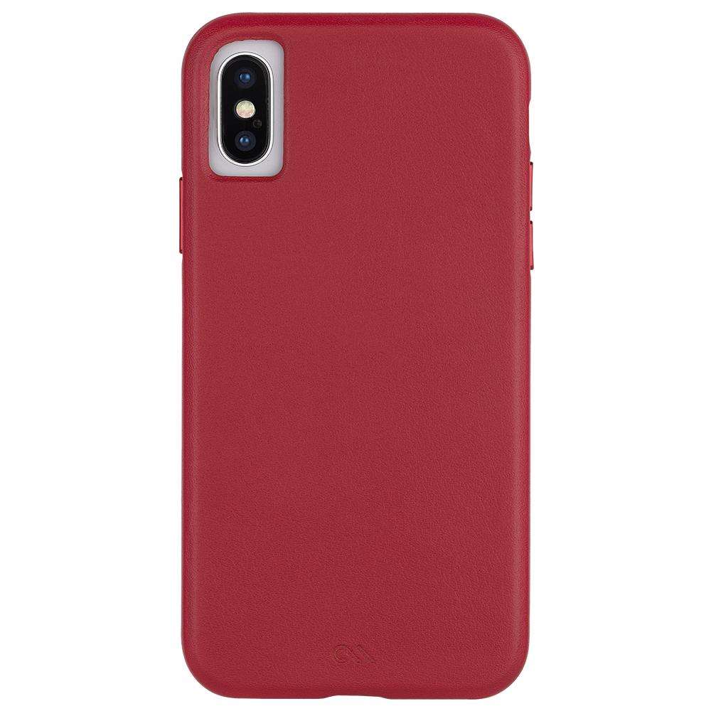 CASE-MATE Barely There Leather For iPhone XS/X - Cardinal