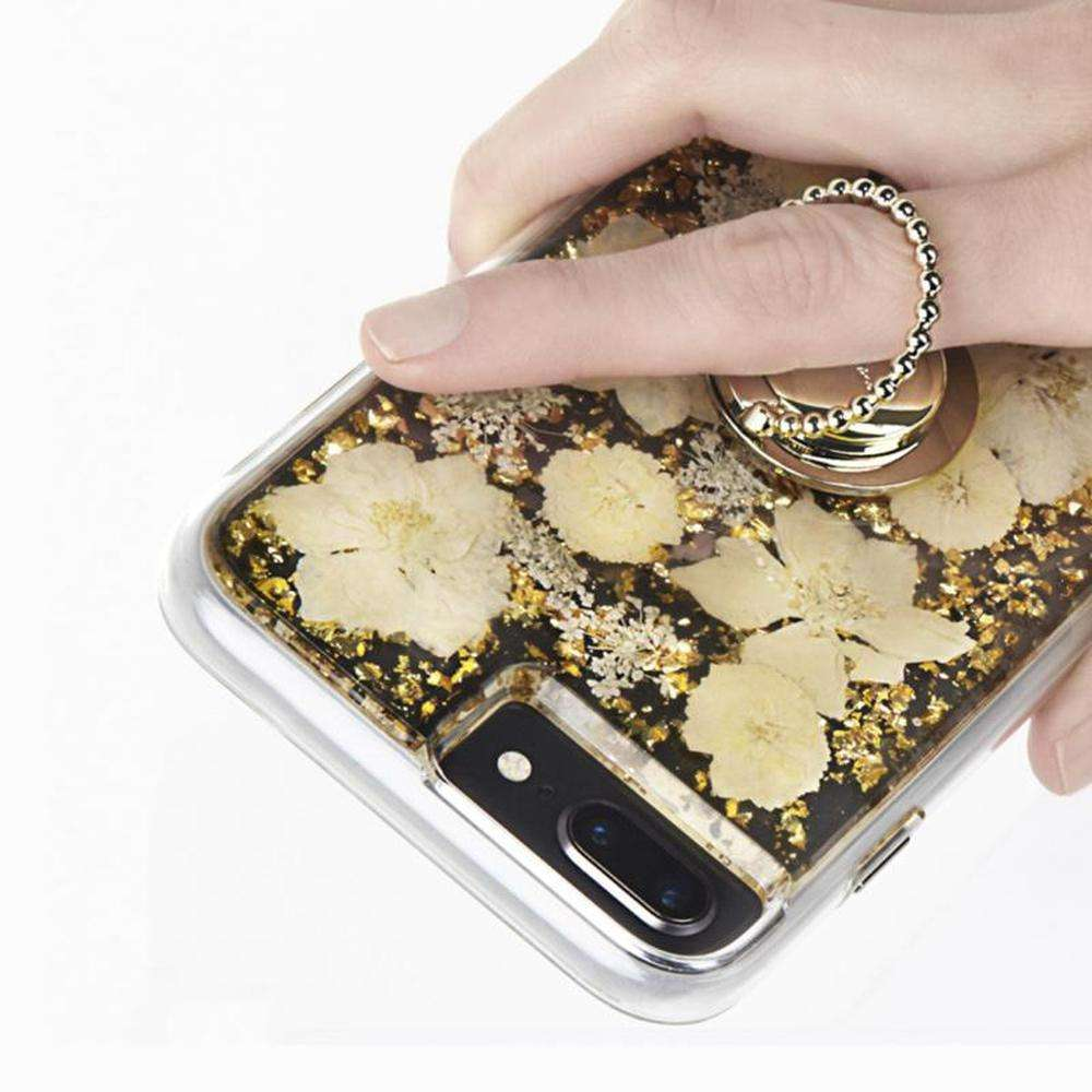 CASE-MATE Phone Dotted Ring Holder Phone Grip Stand Universal Gold
