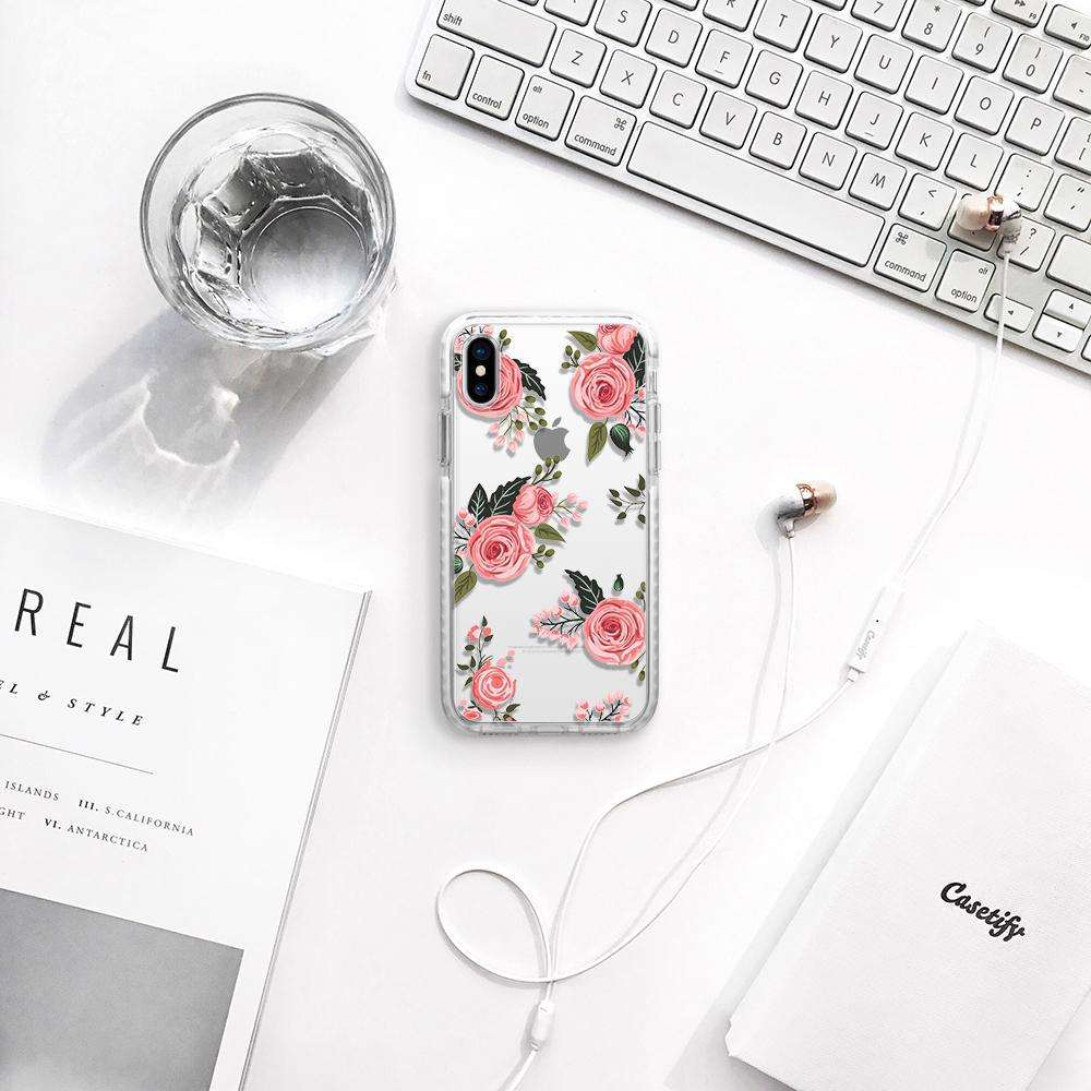CASETIFY Impact Case Pink Roses For iPhone XS Max
