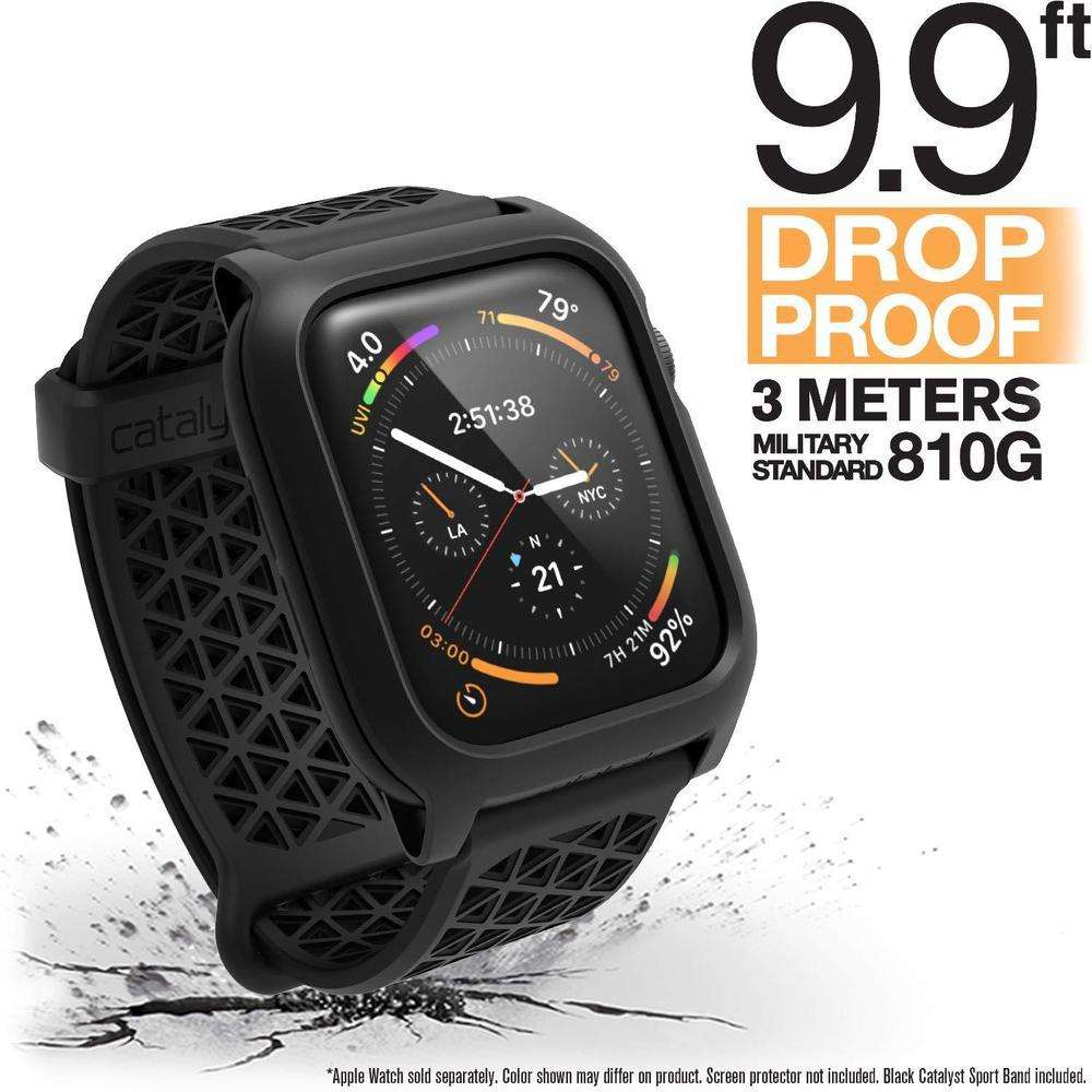 CATALYST Apple Watch 44MM Series 4 Impact Protection Case Stealth Black