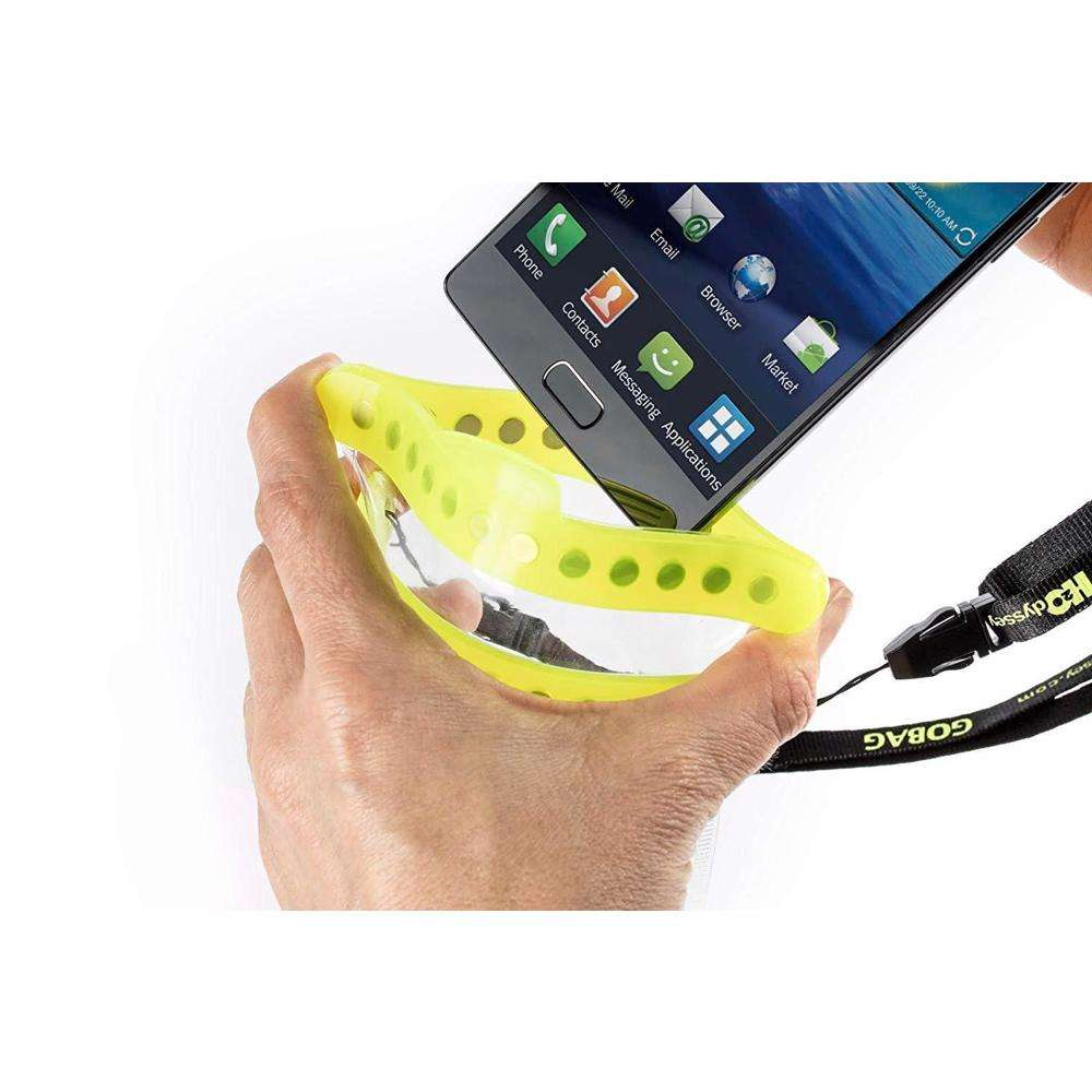 GOBAG Dolphin Self Sealing Dry Bag for All Smartphones Waterproof to 30m Yellow