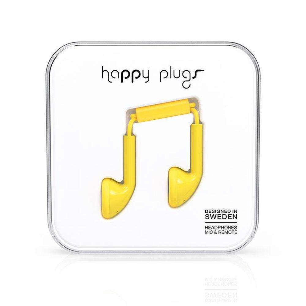 HAPPY PLUGS Earbuds Yellow