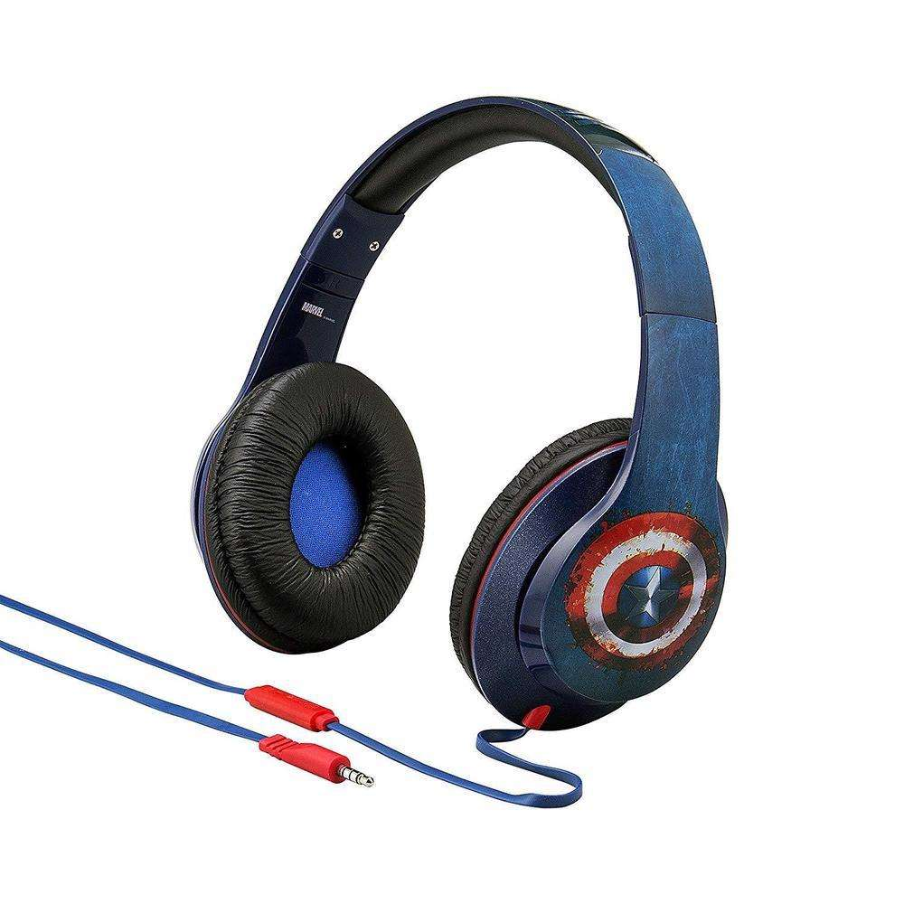 iHOME Kiddesigns Over-Ear Headphone With Mic - Civil War (Captain America On One Side & Iron Man On The Other Side)