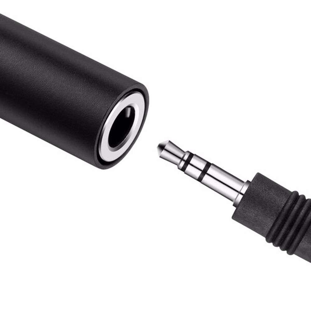 Zoook ZF L2FA BK Lightning to Aux Female Connector, Works with iPhone,iPad,iPhone - Black