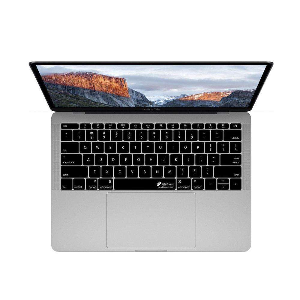 KB COVERS Keyboard Cover for MacBook Pro 13 and 15-inch - w/ Touch Bar Black