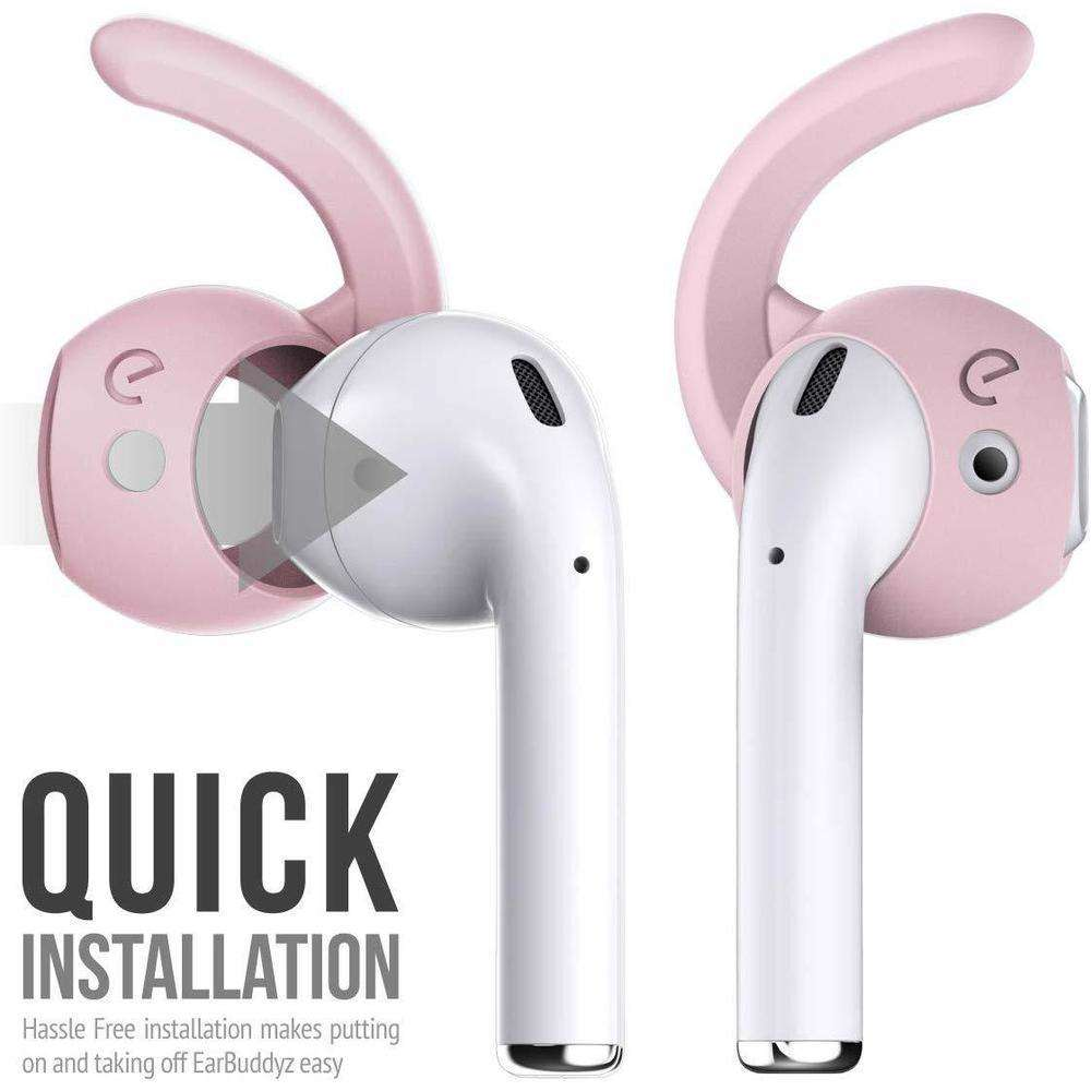 KEYBUDZ EarBudz 2.0 Ear Hooks and Covers Accessories 3 Pairs for AirPods 1 & 2 - Pink
