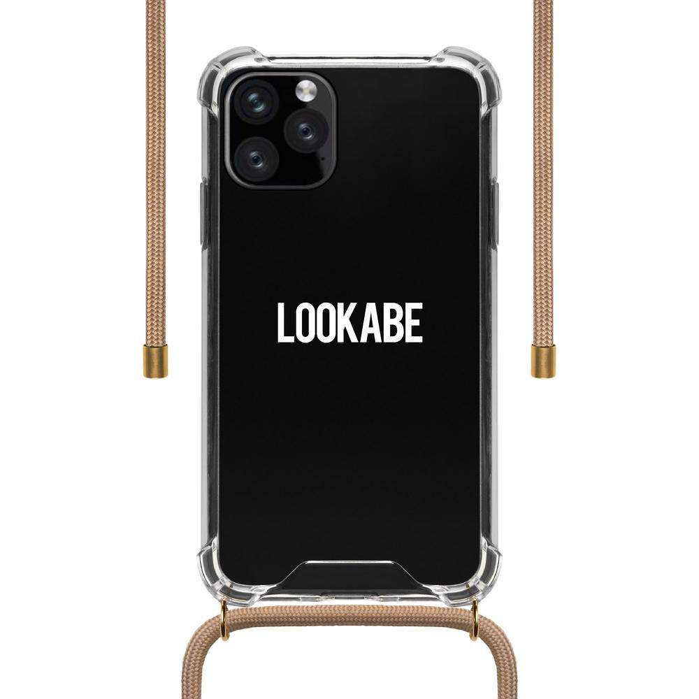 LOOKABE Necklace Clear Case with Cord for iPhone 11 Pro - Nude